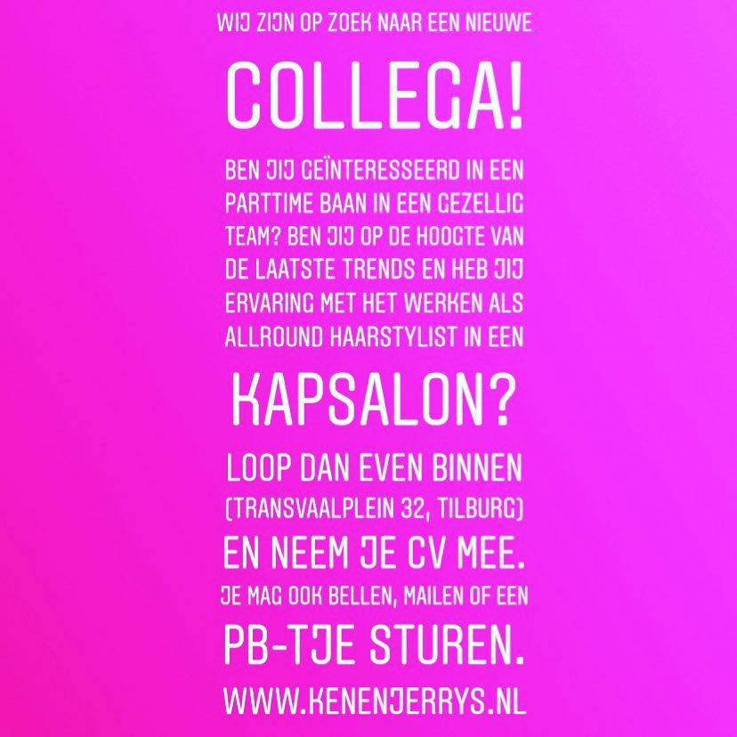 VACATURE  #vacature #hairstylist #tilburg #collegagezocht #kapper #kapsalon