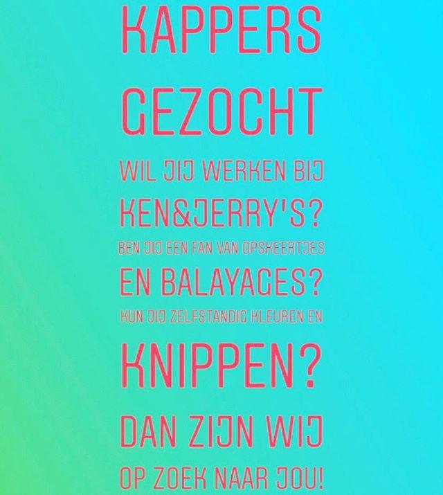 ?013-5442221 of mail naar info@kenenjerrys.nl  #vacature #leukstekapsalon #kappersvacature #personeelgezocht #kappergezocht #kapstergezocht #kappersgezocht #kapstersgezocht #personeelgezocht #tilburg #kappertilburg #kapsalontilburg #leuksteteam #leuksteteamever #kapperspersoneelgevraagd #kapperspersoneel