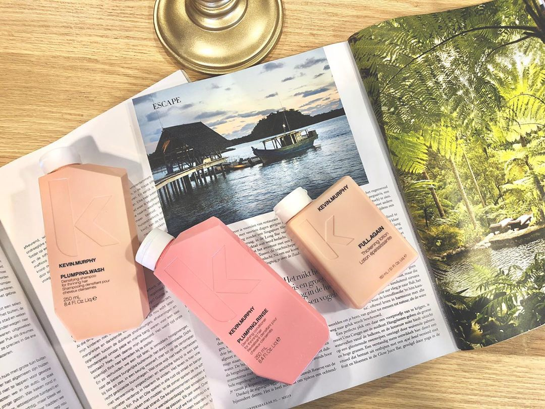 PLUMPING.WASH // PLUMPING.RINSE // Densifiying product for thinning hair, in a peach coloured bottle ? // FULL.AGAIN Thickening lotion  @kevinmurphynl #kevinmurphy #kevinmurphyproducts #skincareforyourhair #ecofriendly ? #savetheplanet #crualtyfree // parabeen en sulfaat vrij✔️ // People need nature, but nature doesn't need people ? // ? photo made @kenenjerrys